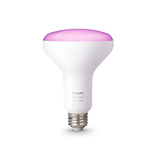 Philips hue white and color ambiance 1st generation br30 60w equivalent dimmable led smart flood light older model compatible with amazon alexa apple