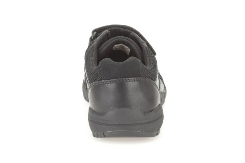 Clarks Air Learn Jnr - Boy's School Shoe in Black Leather Black Leather