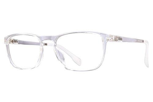 Revolution Mens Eyeglasses - Revolution Nashville Eyeglass Frames - Crystal/Red Mirror Clip-On