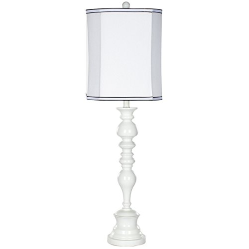 Safavieh Lighting Collection Polly White Candlestick 36-inch Table Lamp