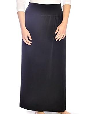 Kosher Casual Women's Modest Dressy Silky & Wrinkle Free Maxi Skirt