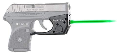 ArmaLaser Ruger LCP TR2G Super-Bright Green Laser Sight with Grip Activation