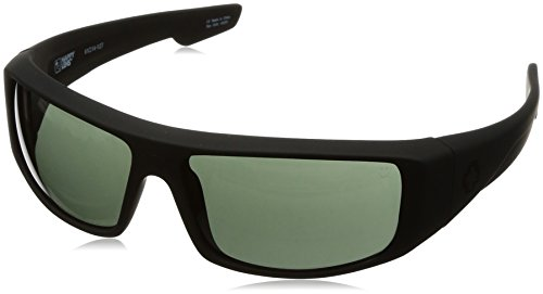 Spy Optic Logan 670939973863 Wrap Sunglasses, 60 mm (Soft Matte Black/Happy - Sunglasses Spy Fishing