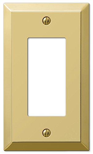 Amerelle Century Single Rocker Steel Wallplate in Polished Brass