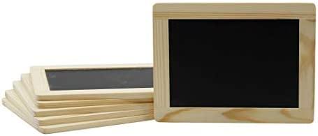 Creative Hobbies Synthetic Chalkboard With Unfinished Wood Frame 4 X 6 Inch Pack Of 6 Chalkboards Small Chalkboards Office Products