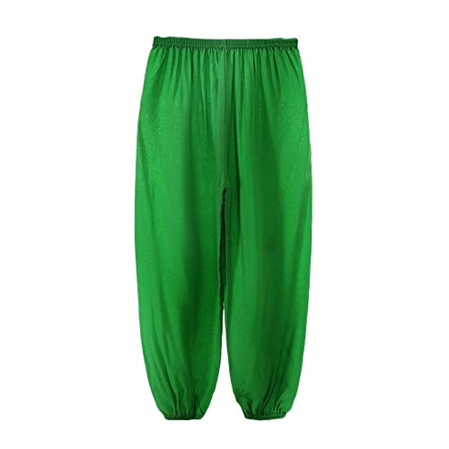 AMSKY Detergent for Baby Clothes,Children Girls Boys Kids Baggy Dance Costume Bloomers Trousers Harem Pants,Green,100 -