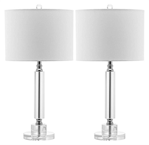 Safavieh Lighting Collection Deco Column Crystal 24.5-inch Table Lamp (Set of 2) by Safavieh (Image #3)