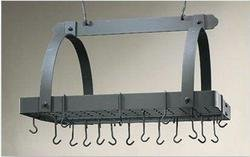 30 x 20.5 x 15.75 Graphite Pot Rack w/Grid 24 Hooks by DSD