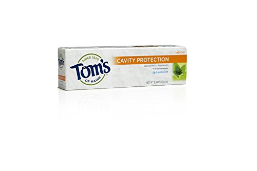 Protection Fluoride Anticavity Toothpaste (Tom's of Maine Anticavity Paste, Spearmint, 5.5 Ounce, 2 Count)