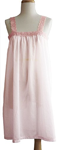 Pampour Bespoke French Embroidered Cotton Nightgown From Couture (Lt Pink Rose, Small) by Pampour (Image #3)