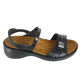 Papaya Women's Papaya Black Naot Women's Flat Naot Black Flat 5YYOqTxp