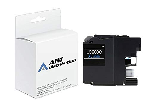 AIM Compatible Replacement for Brother LC-201C Cyan High Yield Inkjet (550 Page Yield) - Generic