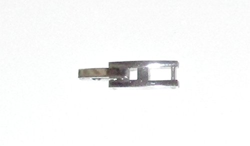 Stainless Steel H Foldover Clasp 1.9mm (for 2mm fold over) Fold Over Watch Bracelet Clasp Extender (Tab Fold Over)