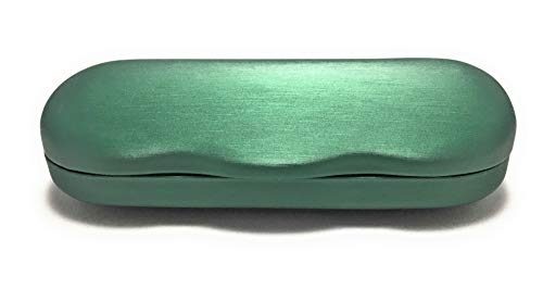 EZ Open Hard Shell Eyeglass Case for Reading Glasses Spectacles and Small Sunglasses (green) ()