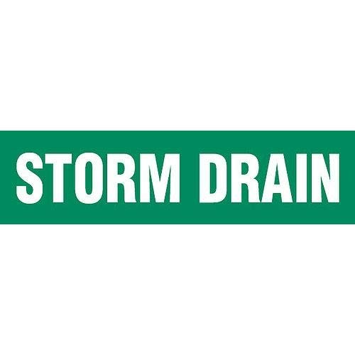GHS Safety PM1292VD,''Storm Drain'' Adhesive Vinyl Pipe Marker, Pack of 50 pcs