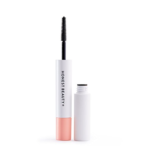 Honest Beauty Extreme Length Mascara + Lash Primer | 2-in-1 Boosts Lash Length, Volume & Definition | Silicone Free, Paraben Free, Dermatologist & Ophthalmologist Tested, Cruelty Free | 0.27 fl. - Clean Beauty Natural