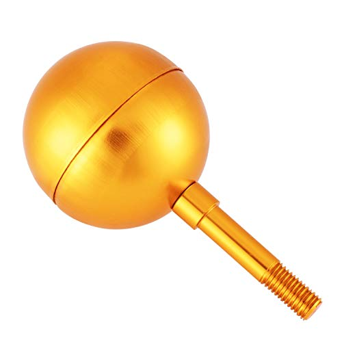 JZENT Flagpole Ball Top Ornament 3-Inch Gold Anodized Flag Pole Toppers Designed for US Standard Flagpole, Fastened Flagpole Light