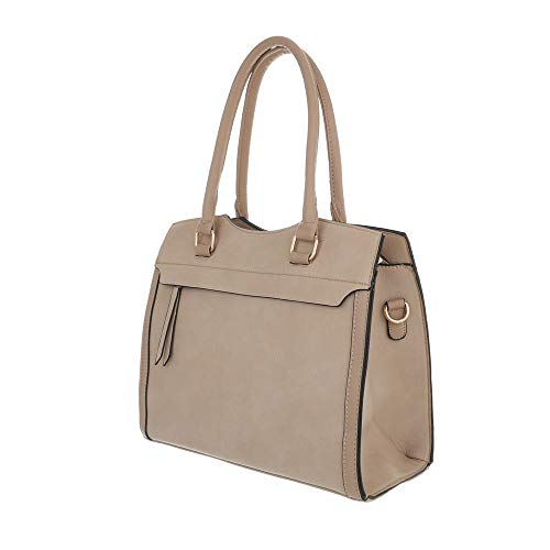 Design hombro Size Beige de al Sintético marrón mujer Bolso beige Ital para One RqdAA