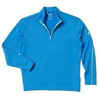 Boys Adidas Clima Lite Warm 3 Stripe Layer Blue Small