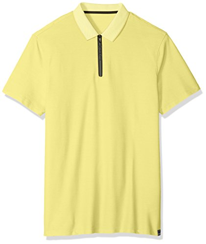 Calvin Klein Men's Short Sleeve Pique Cotton Polo Shirt, Buttercup, L ()