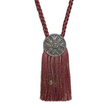 (India House 76721 Tieback Medallion Tassel, 9-Inch, Burgundy Mix)
