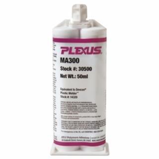 PLEXUS MA300 Bonding Adhesives, 50 mL, Cartridge, Off White, Off/White, Yellow (Pack of 12) by Plexus