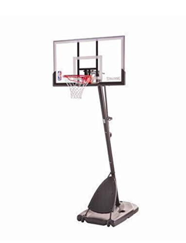 Spalding Pro Slam Portable NBA 54' Angled Pole Backboard Basketball System ((Black))