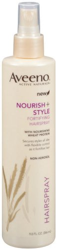 Aveeno Nourish + Style, Fortifying Hairspray, 0.654-Pound (Pack of 2)