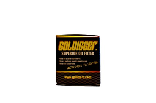 GOLDIGGER After Market HF139 & KN-139 Replacement Oil Filter Powersports/Motorcycle/Dirt Bike/ATV (3 Pack) by GOLDIGGER (Image #2)