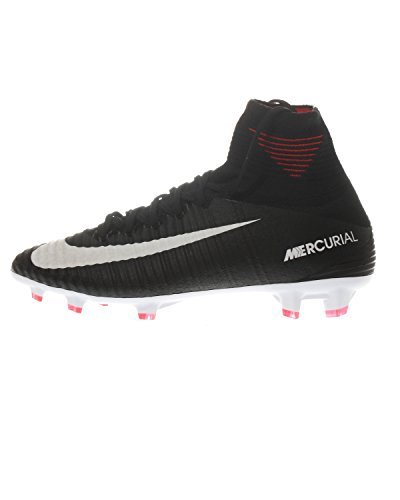 Nike Junior Mercurial Superfly V DF FG Football Boots 921526 Soccer Cleats (UK 4.5 us 5Y EU 37.5, Black White Dark Grey 002) ()