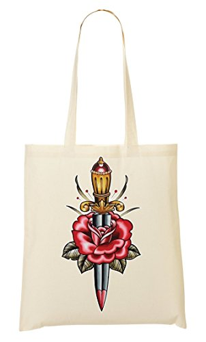 Colors Collection Vintage De Bolso Tattoo La Old Sword Shutup Dagger School Mano Compra Bolsa FxZgTxqf