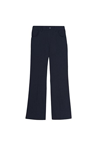 Navy School Uniform Pants (French Toast Little Girls' Pull-on Pant, Navy, 5)