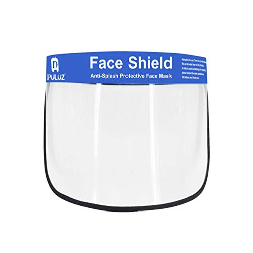 Exceart Clear Face Shield Safety Face Shield Eye and Head Protective Cover Mask Anti-Saliva Protective Face Guard Personal Protective Equipment