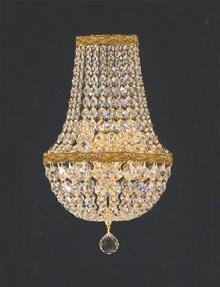 "Swarovski Crystal Trimmed Chandelier! Empire Crystal Wall Sconce W/Swarovski Crystal Lighting W 9.5"" H 18"" D 5"""