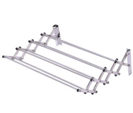 K&A Company Wall Expandable Clothes Drying Towel Rack Mounte