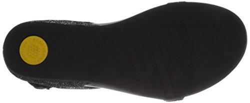 Fitflop Banda Roxy Sandalia Negra (con Telar De Cintura) Negro