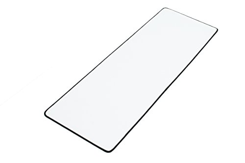 "White Extended Gaming Mouse Mat / Pad - XXL Large, Wide (Long) Mouse Pad, Stitched Edges, Speed Silky Smooth Surface - 36""x12""x0.12"""