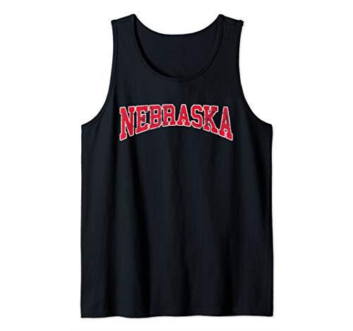 Vintage Nebraska Retro Weathered Classic Apparel Tank Top