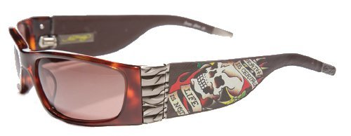 Hardy Glass (Ed Hardy Ehs-015 Death Is Certain Sunglasses - Tortoise/Brown)