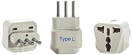 Amazon ceptics gp 12a 3pk italy travel plug adapter type l ceptics gp 12a 3pk italy travel plug adapter type l 3 cheapraybanclubmaster Gallery