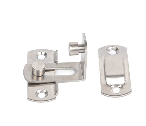 2 Large 90 Degree Right Angle Door Latch Buckles Curved Latch Bolts Sliding Lock Lever Bolts for Doors and Windows by ming (Image #3)