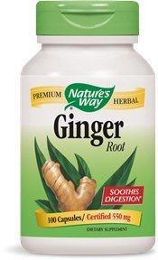 Nature's Way Ginger Root, 550 mg, 100 Capsules