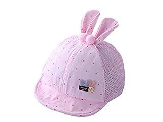 Kids Hat Dot Rabbit Ear Toddler Sun Visor Sun Protection Hat Baby Baseball Mesh Cap for 4-24 Months(Pink) Decoration Cap (Color : Blue, Size : 48-52cm)