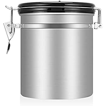 Beansafe  Oz Stainless Steel Coffee Storage Container