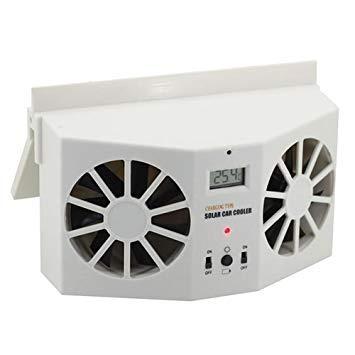Uniqus 2W Solar Powered Car Auto Air Vent Cool Cooler Ventilazione System Radiatore, con Temperatura Display