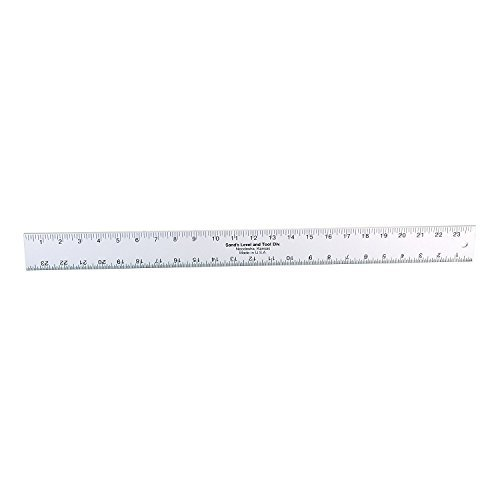 Sands Level & Tool SLASE24T Professional Straightedge/Ruler, 24-Inch x 2-Inch x 3/16-Inch, Silver