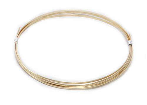 22 Gauge, 14/20 Yellow Gold Filled, Half Round, Dead Soft - 25FT from Craft Wire - Round Gold Wire Filled Gauge