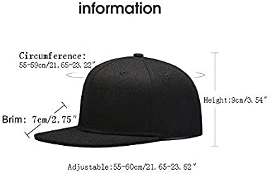 Rosventur Angry Cartoon Unicorn Snapback Cap Flat Brim Hats Hip Hop Caps for Men Women
