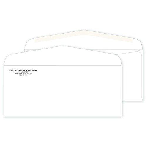 CheckSimple Personalized #10 Non-Window Standard Mailing Envelopes - (500 Envelopes) Custom