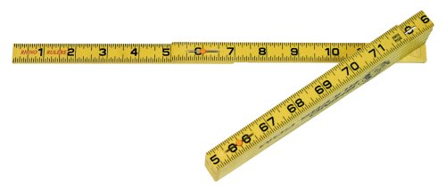 Rhino Rulers Folding Inside Reading Carpenter's Ruler 6' Length - 55145